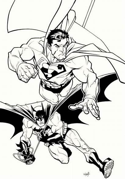 Coloring Pages Batman Superman Dc Comics Boys