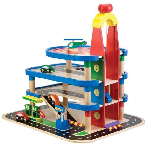 childrens wooden toy parking garage  alex