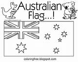 Australian Colouring Printable Flag Australia Coloring Activities Printables Drawing Words Flowers Tropical Colour Clipart Koala Tree Vegetation Prehistoric Untamed Complex sketch template
