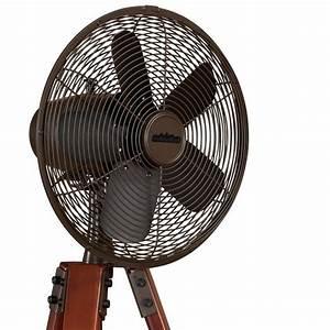 Ventilateur Brumisateur Sur Pied : fanimation arden un ventilateur sur pied tripode en noyer sur un ventilateur bronze huil ~ Melissatoandfro.com Idées de Décoration