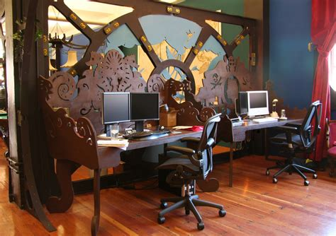 bureau decoration steunk office interior design and fabrication because