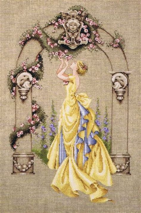 rose  sharon cross stitch pattern  mirabilia designs