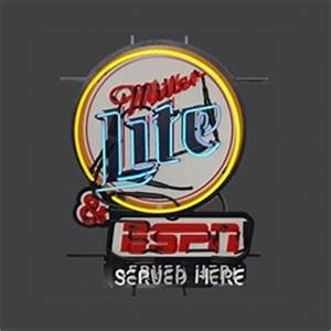 Miller Lite ESPN Neon Sign