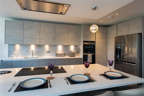nobilia handle  concrete kitchen twickenham richmond