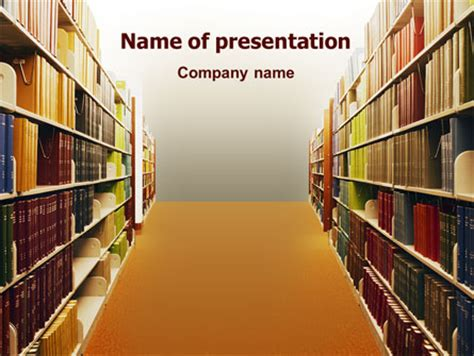 library book shelves  template  powerpoint