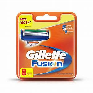 Buy Gillette Fusion Manual Shaving Razor Blades Packet Of