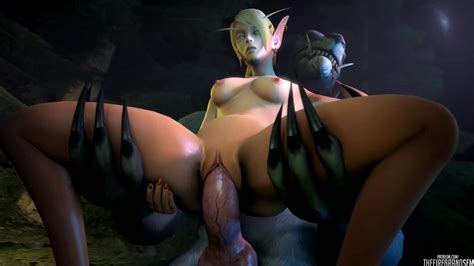 blood elf and worgen porn pictures