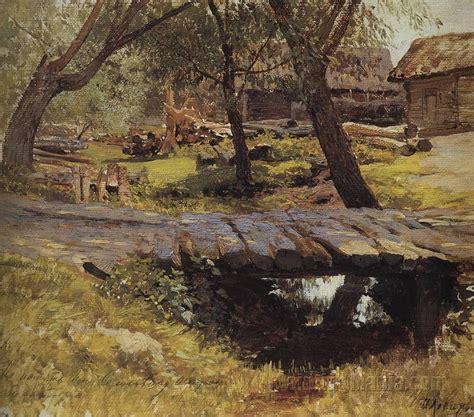 Footbridge. Savvinskaya Village - Isaac Levitan Paintings