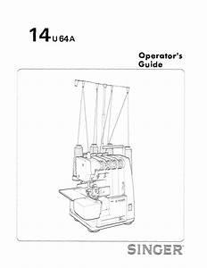 Singer 14u64a User Manual