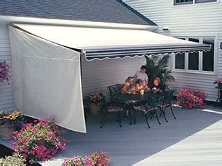 retractable awnings sunsetter side weatherbreaker panel
