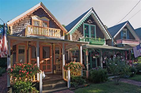 house plans with big porches the wesleyan grove gingerbread cottages on martha s