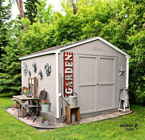 decorating a shed my new junk garden shed organized clutter
