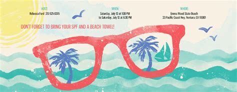 beach party  invitations evite