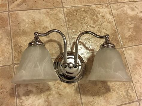 Bathroom Vanity Light Fixture by Bathroom Vanity Light Fixture Silver 2 Bulb Bath Room