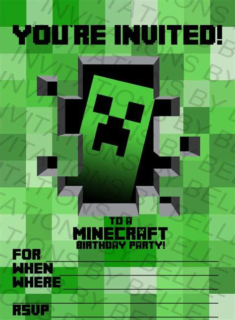printable minecraft birthday invitation