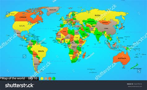 world maps labeled world map vector
