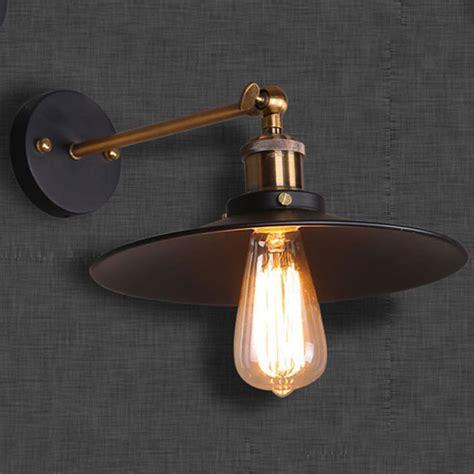 modern led vintage industrial antique brass black scone