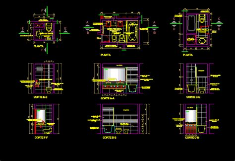 residential bathroomconstruction details dwg section