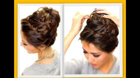 epic braid bun braids hairstyles for medium hair youtube