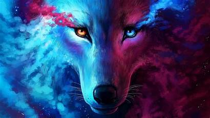 Wolf Galaxy Wallpapers 4k Desktop Wolves Cool