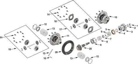 Jeep Exploded Diagram by Jeep Wrangler Jk 44 Standard Rear Differential Parts