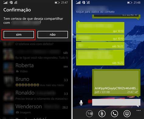 como usar o whatsapp para enviar arquivos em pdf no windows phone dicas e tutoriais techtudo