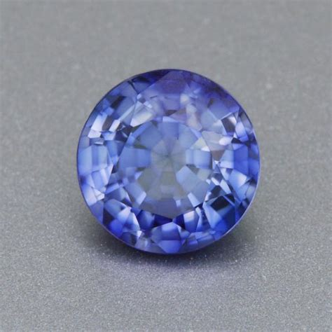 mm brilliant  periwinkle blue lab created sapphire
