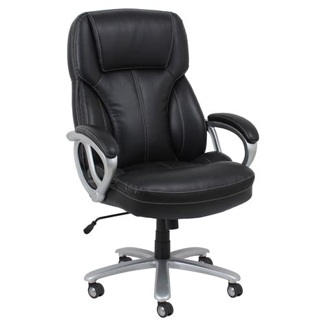 big and leather executive office chair with arms