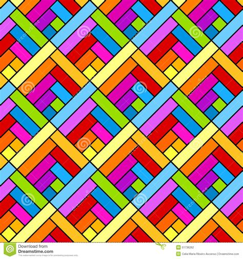 colorful diagonal squares seamless geometric pattern stock