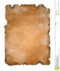 Ancient Parchment Paper Isolated Stock Photos - Image: 4188683
