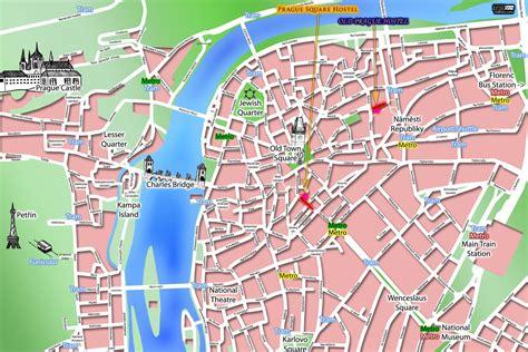 prague  town map prague czech republic mappery