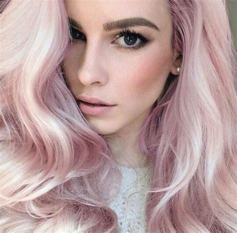 Lauren Calaway And Her Pastel Pink Hair Trendy Hair