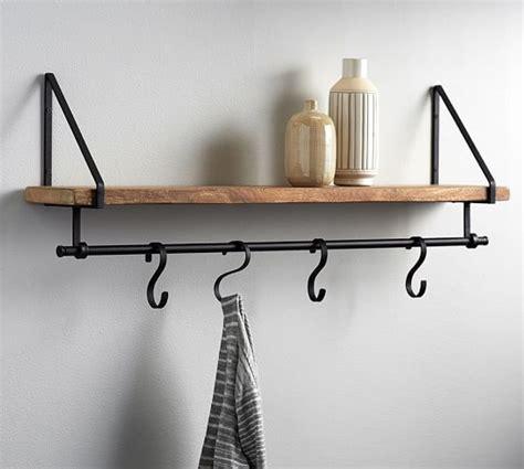 shelf with hooks shelf with hooks pottery barn