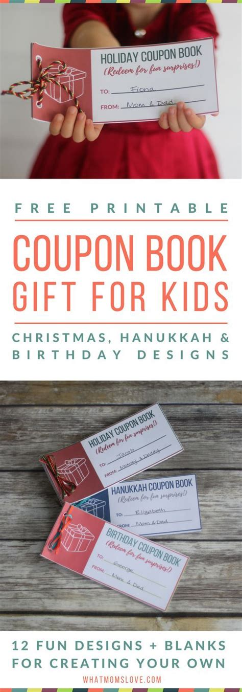 printable coupon book  perfect stocking stuffer  kids