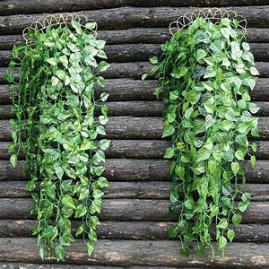 Fausse Plante Verte : plante retombante exterieur plante tombante exterieur plante artificielle tombante plante ~ Teatrodelosmanantiales.com Idées de Décoration