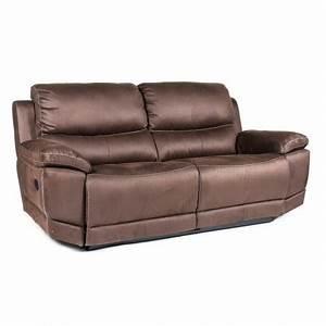 mon coin maison canape tissu 3 places 2 relax electrique With canape 3 places avec 2 relax electrique