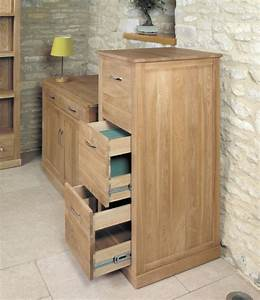 Baumhaus Mobel Oak 3 Drawer Filing Cabinet Mobel Oak