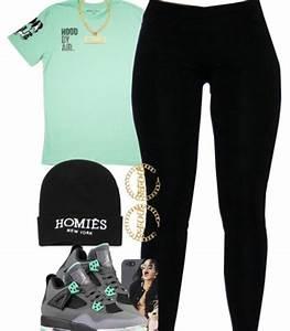 Blouse black leggings jordans beenie greenish shirt shoes shirt - Wheretoget
