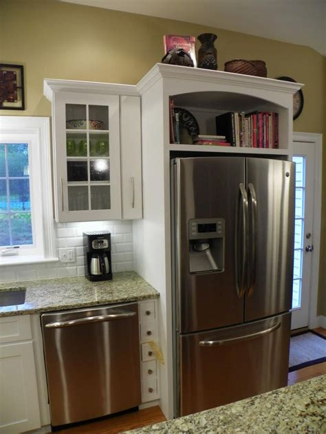 shelves above kitchen cabinets 10 best images about refrigerator storage options on 5181