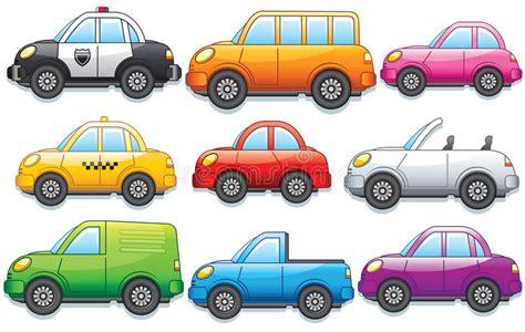 Automobili E Camion Divertenti Del Fumetto Illustrazione