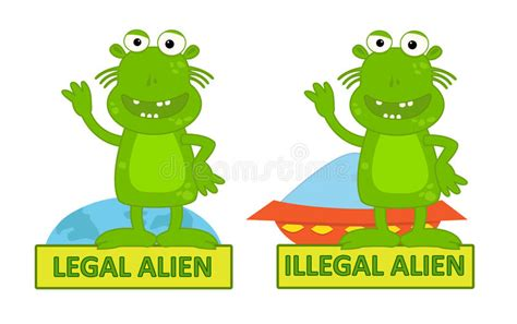 Legal Illegal Alien Stock Vector  Image 49109936