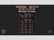 20182019 Chicago Bears Wallpaper Schedule