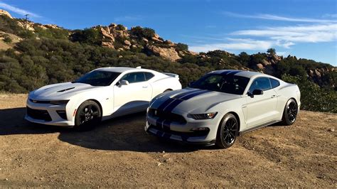 custom shelby cobra ss ford shelby gt350 vs chevy camaro ss throwdown