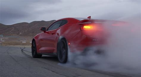 chevy camaro zl burnout teaser video gm authority