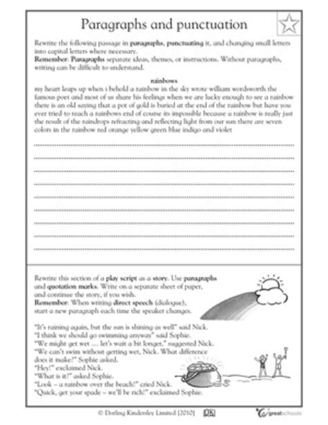 20 best images of punctuation worksheets for grade 5 5th grade paragraph writing worksheets