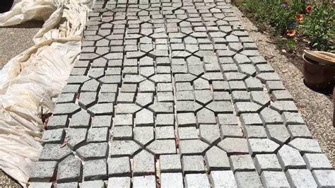 your own pavers from a concrete mold