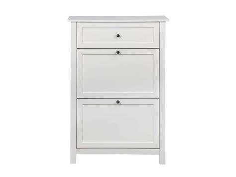 bureau blanc avec tiroir meuble à chaussures lou coloris blanc vente de meuble à