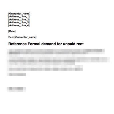rent arrears grl landlord association