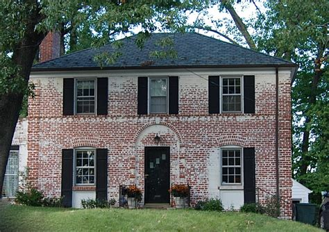 delightful small colonial homes whitewash brick house images frompo 1