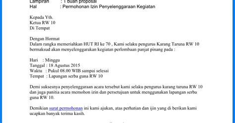 contoh surat permohonan izin tempat kegiatan wiki